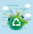 eco friendly city design vector image