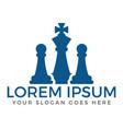 chess club or chess school logo design vector image