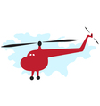 Cartoon helicopter vector image vector image