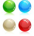 Glossy balls vector image