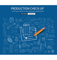 Production Check Up concept with Doodle design vector image