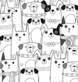 dogs mix pattern vector image