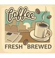 Vintage of coffee cup and news vector image