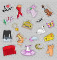 ballet stickers badges patches set vector image