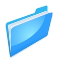 Blue file folder icon vector image