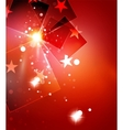 Christmas red abstract background with white vector image