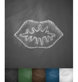 lips icon vector image