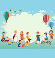 playing kids background vector image