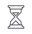 sand time line icon sign on vector image