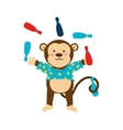 circus monkey cartoon icon vector image