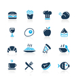 Food Icons 1 Azure Series vector image vector image