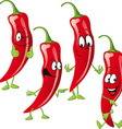 chili pepper cartoon isolated on white background vector image