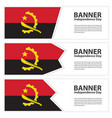 angola flag banners collection independence day vector image