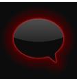 Glowing Speech Bubble vector image vector image