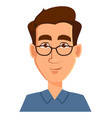 face expression of a man - neutral calm male vector image vector image