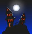 Haunted Monster house - Halloween background vector image