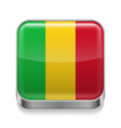 Metal icon of Mali vector image