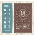 retro birthday party invitation card vector image