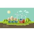 Green energy ecology environment vector image