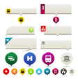 pin points and tooltip set vector image