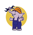 elephant with wrench vector image