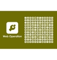 Set of web operation simple icons vector image