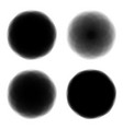 black bubbles for chat quotes or speech vector image