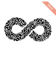 black ornate infinity symbol vector image