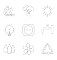 Production of energy icons set outline style vector image