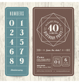 retro birthday party invitation card vector image