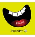Happy Birthday Card big smile funny vector image vector image