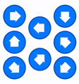 set - arrows in blue circles vector image