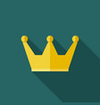 crown cup icon vector image