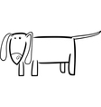doodle dog for coloring vector image vector image