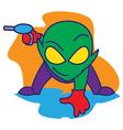 Alien Bring a Gun vector image