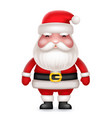 cute 3d realistic cartoon santa claus toy vector image