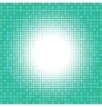 Light halfton on green digital background vector image