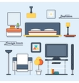 Lounge Room and Bedroom Covers vector image