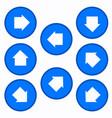 set - arrows in blue circles vector image
