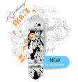 Skate Board Design vector image