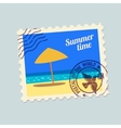 summertime holidays postmark vector image