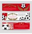 Footbal banners set vector image
