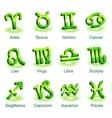 Horoscope zodiac star signs vector image