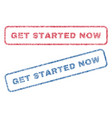 get started now textile stamps vector image