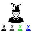 fool flat icon vector image