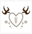 Heart frame with swallows and roses vector image
