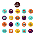 Summer flat icons vector image vector image