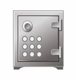 Safe Box Icon Iron Stainless vector image
