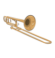musical instrument trombone isolated on white vector image