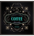 vintage victorian western frame coffee label vector image